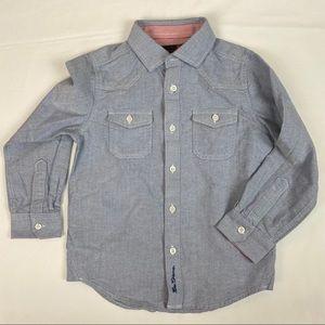 3/$20 BEN SHERMAN Boy Button Down Shirt 4-5 Y